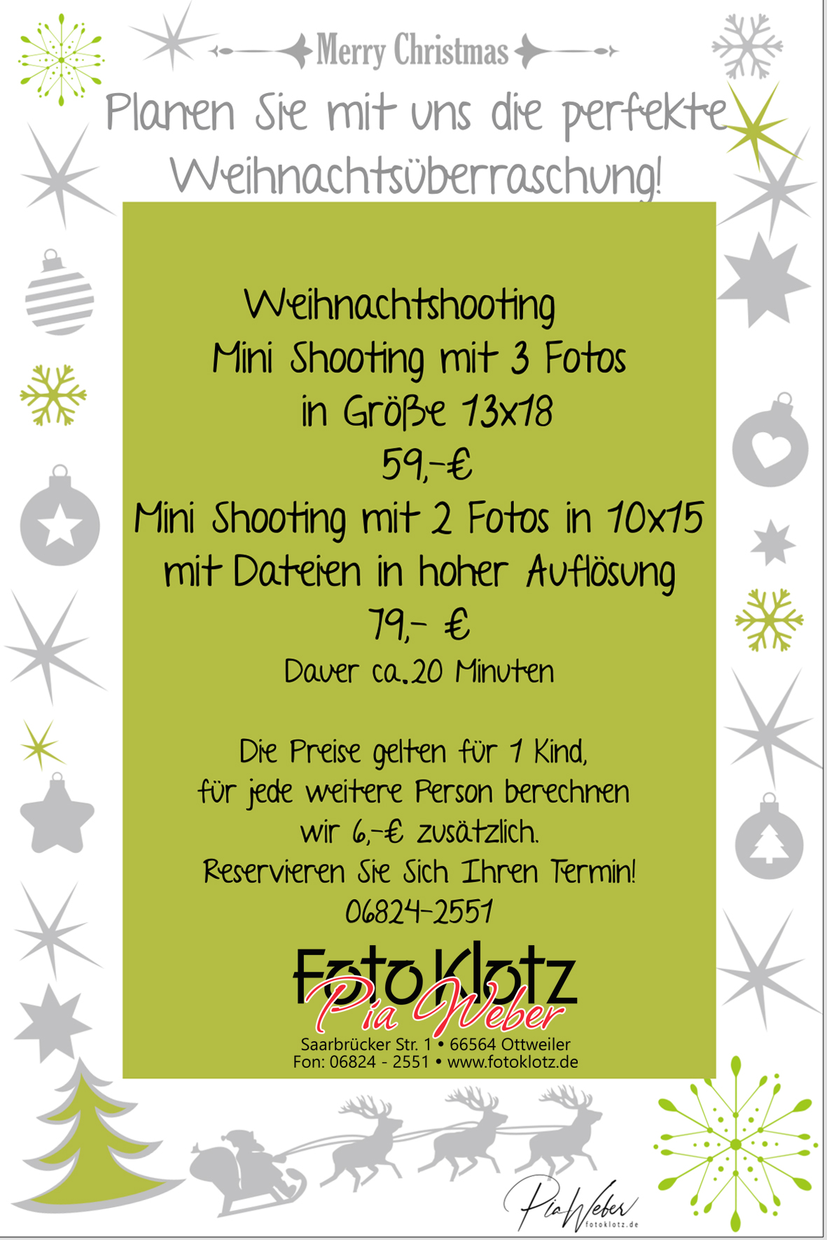 Angebot-Shooting